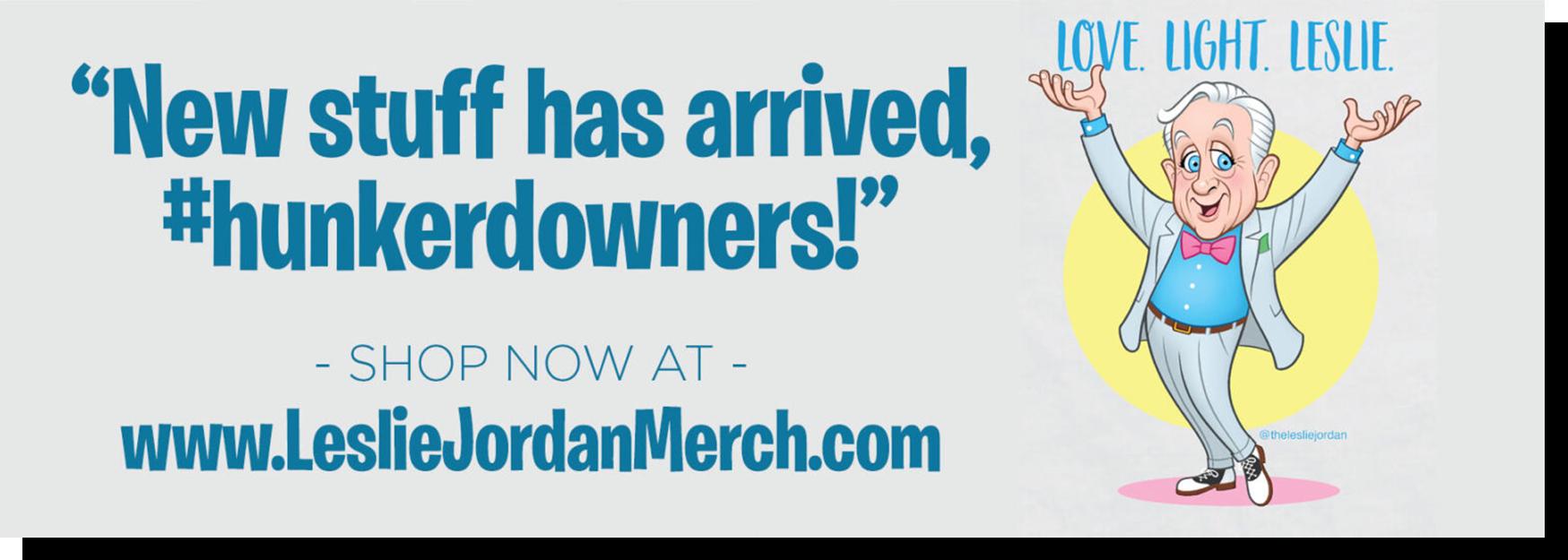 Leslie Jordan Store Page Merchant Banner